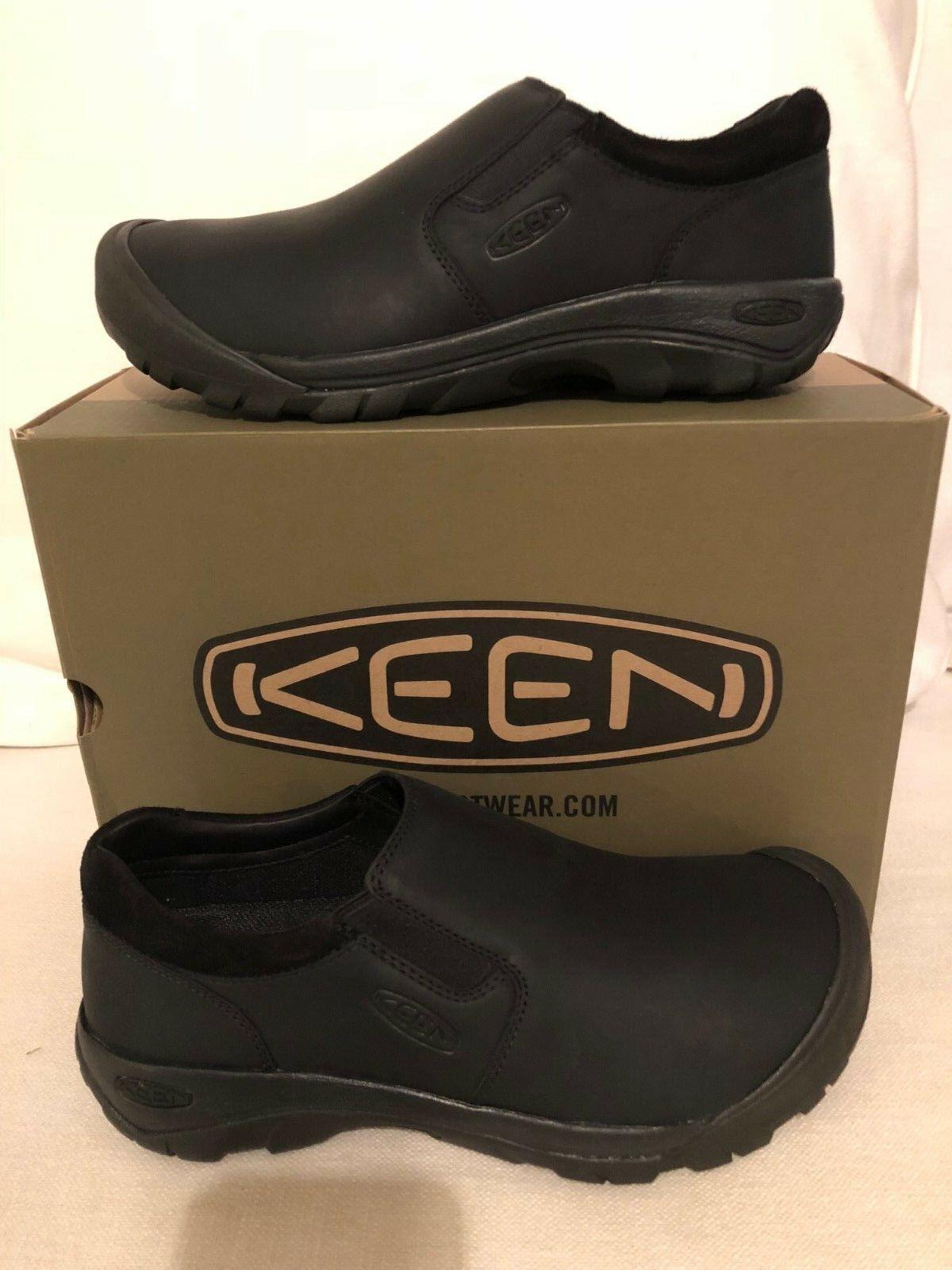 Keen Austin Informal Sin Cordones Negro Zapato Mocasín Raven Para Hombre Tallas 7-17    nuevo