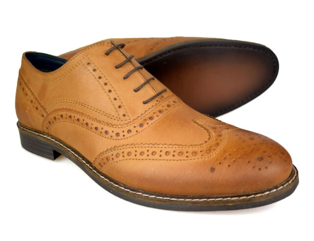 Mens Red Tape Kildare Casual Smart Leather Lace Up Brogues Shoes Sizes 7 to 12