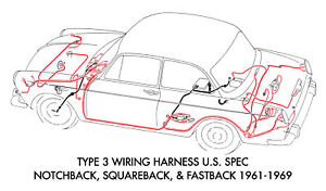 Image Is Loading New VW Type 3 Wiring Harness U S Spec