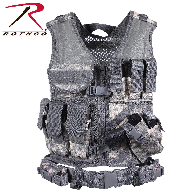 redhco Cross Draw MOLLE Tactical Vest ACU Digital Camo