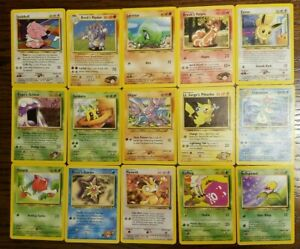Pokemon-Original-Base-set-to-Legendary-Collection-Older-cards-15-Card-lot-ABC