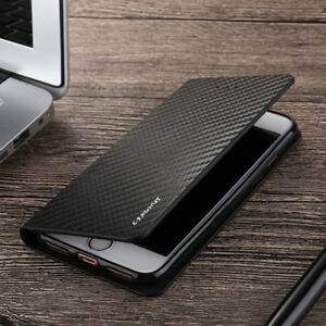 sports shoes bb917 09950 Details about Magnetic Carbon Leather Flip Wallet Phone Case Cover for  Samsung S10 S8 S9 Plus