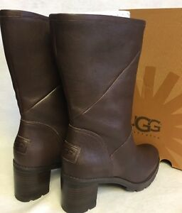 bfdf7fc34ca Details about UGG Australia Jessia Lug Sole Stacked Heel Boots 1013902  Stout water resistant