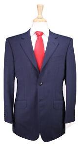 TIMOTHY-EVEREST-London-Navy-Blue-Pinstripe-3-Btn-Modern-Fit-Wool-Suit-40R