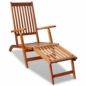 vidaXL-Outdoor-Deck-Chair-with-Footrest-Acacia-Wood-Garden-Furniture-Seat