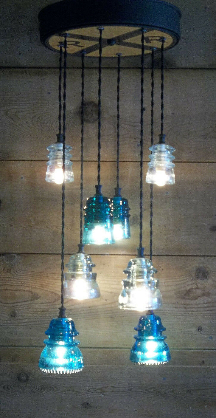 Glass insulator light fixture railroad light train light fixture glass insulator light fixture railroad light train light fixture chandelier arubaitofo Image collections