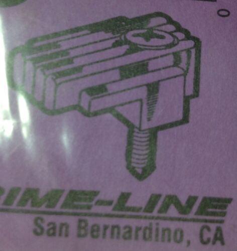 "12 Prime-Line Mirror Holder Clip Fluted Design CLR Fits 1//8/"" Mirror w// Screws"