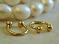 Gold Plated Horseshoe Nipple Ring.
