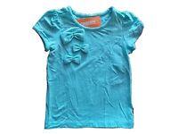 Girl's Gymboree Posh And Playful Blue Short Sleeve Shirt 4 6 7 8 Free Ship