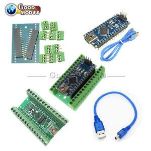 Nano-V3-0-CH340G-ATmega328-Terminal-Adapter-Shield-Board-5V-16MHz-for-Arduino
