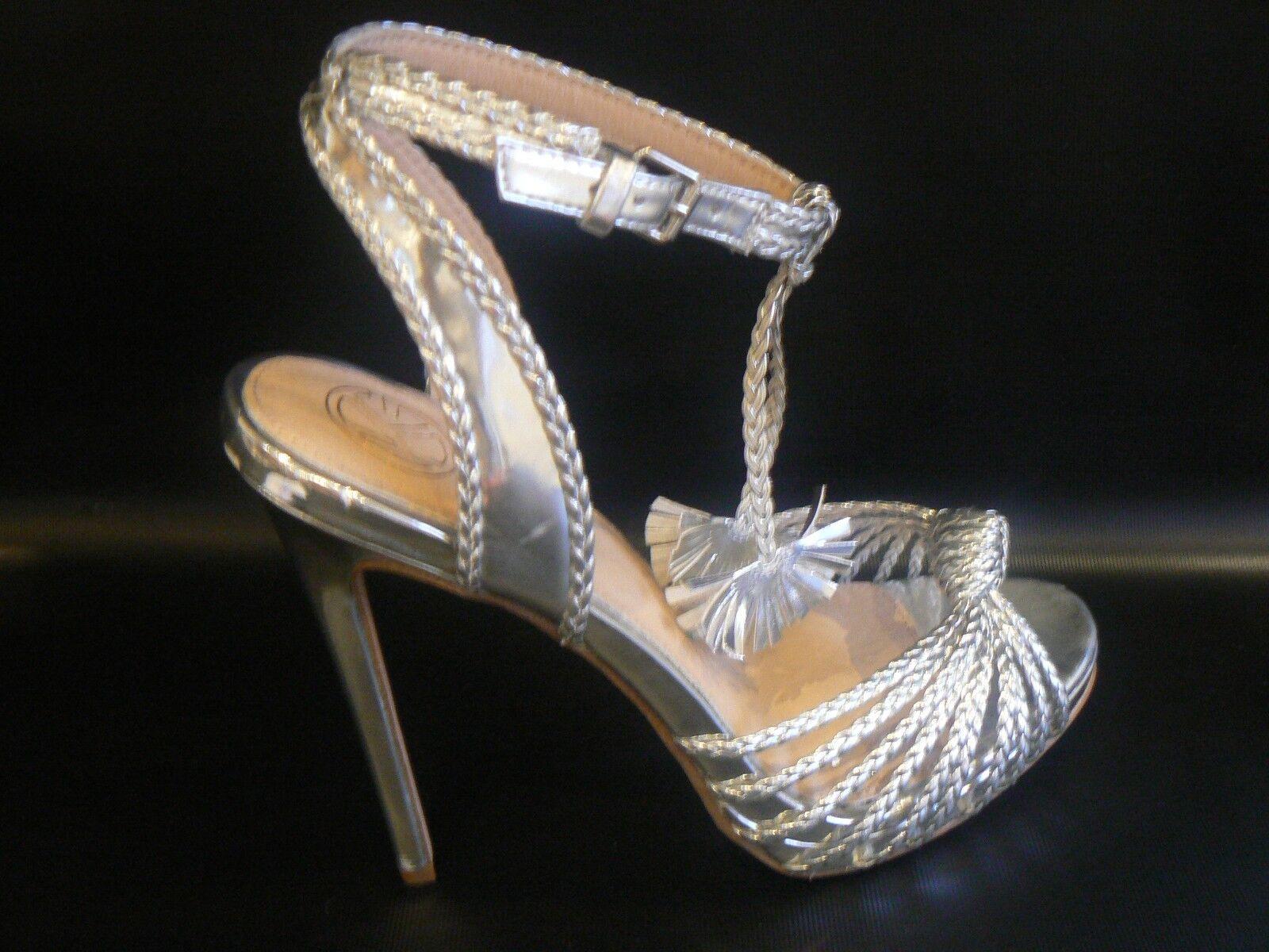 KG Kurt Geiger Hoax Silver High Heel Sandale in Silver UK Größe 8 /41