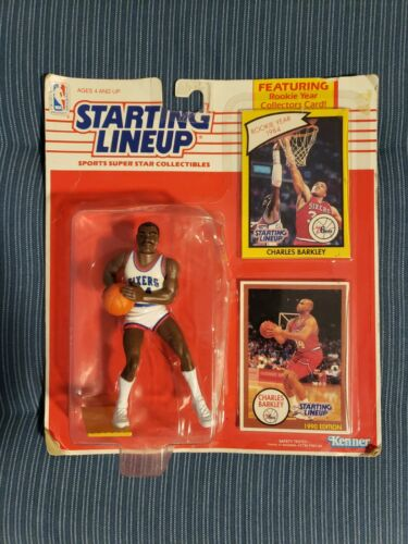 1990 Kenner Starting Lineup Figure dula Charles Barkley NBA Philadelphia 76ers