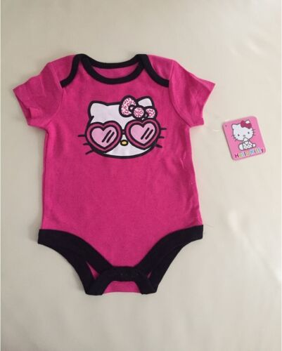 Official Licensed Hello Kitty Short Sleeve Baby Girl Bodysuit size 0-3-6-9 mos
