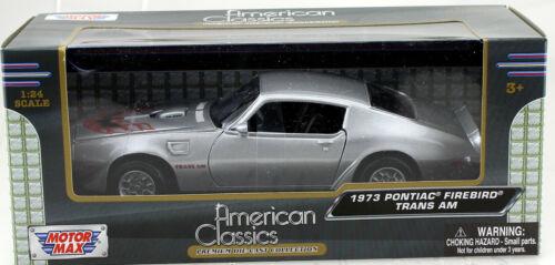 Pontiac Firebird Trans Am 1973 silber 1:24 Motor Max Modellauto 73243
