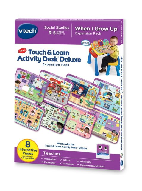 VTech Touch and Teach Activity Desk Deluxe 4-in-1 Kindergarten .. Free Shipping