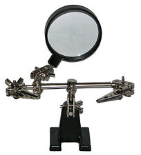 Ecg Helping 3rd Hand Soldering Iron Hobby Tool With Clamps And Magnifying Glass