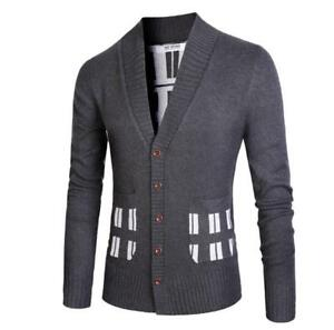 Winter-Mens-Thick-Coat-Jacket-Long-Sleeved-Hooded-Cardigan-Sweater-Casual-Ths01