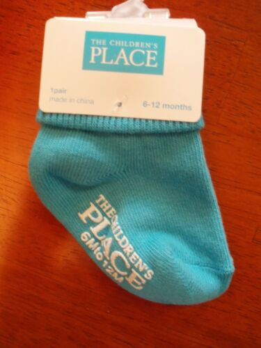 Toddler Girls Turquoise Socks   Size 12-24 Months   NWT!