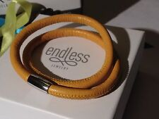 Endless Jewelry 40cm Yellow Bracelet Double Strand Silver Clasp  rrp £50