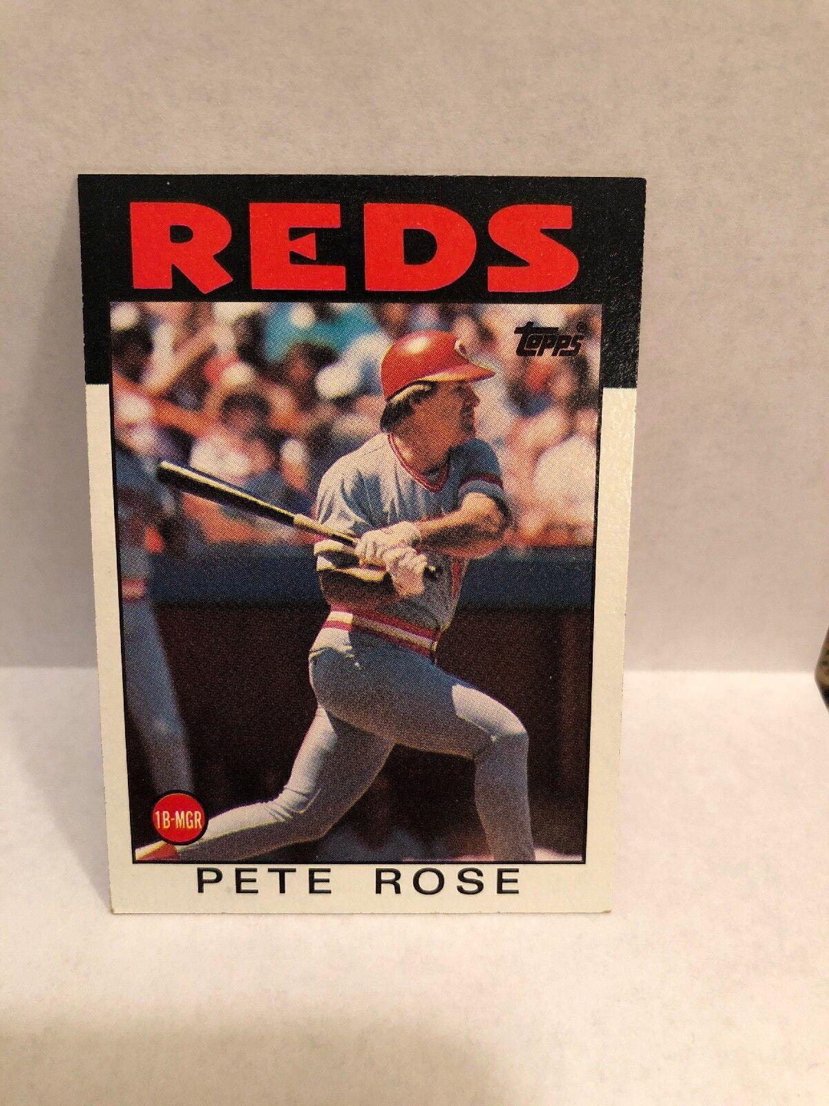 1986 Topps Pete Rose 1 Baseball Card