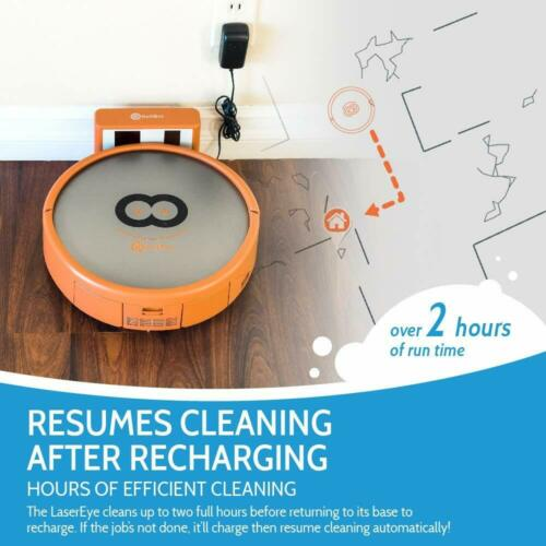 Refurbished RolliBot 3D Laser Mapping Robot Vacuum Clean Floors Cliff 2D Map App