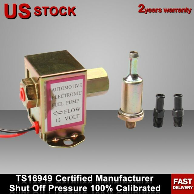 12V 2.5-4 PSI Electric Fuel Pump For Carburetor Motor 90 L//h E8012S High Quality