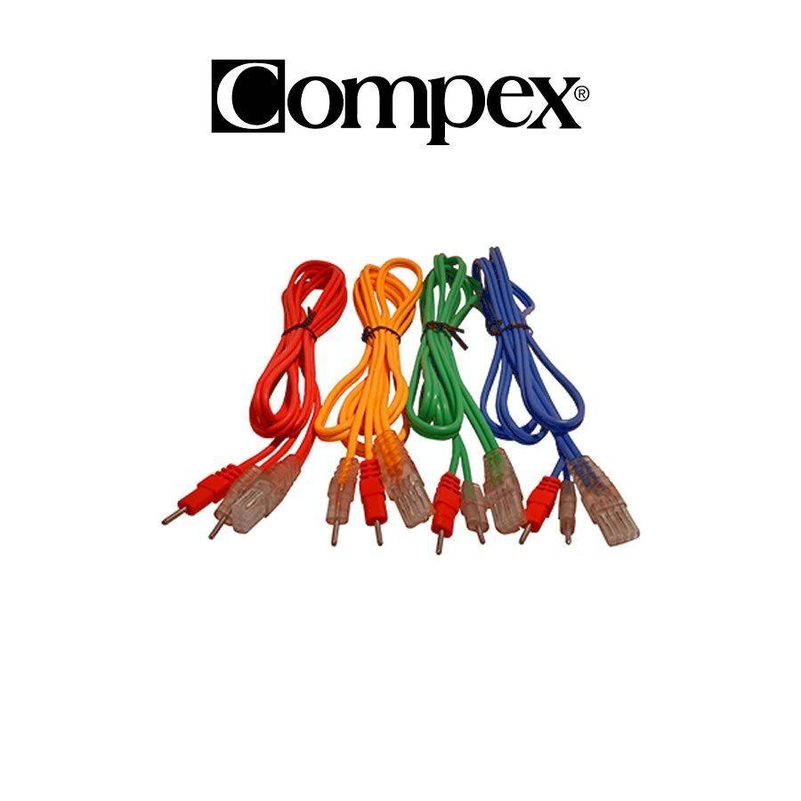 COMPEX Set di 4 cavi a filo 8P PIN per SP3, SP400, TOP FITNESS, THETASTIM 681400