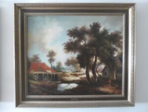 Grand-Lot-Peintures-a-l-039-huile-30-pcs-st-Groot-Olies-Lot-30-Oil-paintings