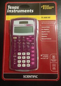 "New Texas Instruments TI-30X IIS 2-Line Solar Scientific Calculator ""Dark Purple"