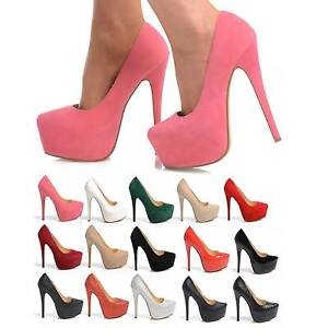 NEW-LADIES-PARTY-PLATFORM-HIGH-HEELS-STILETTO-COURT-SHOES-SIZE-3-8