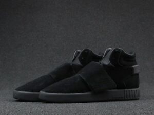 Adidas-Mens-Tubular-Invader-Strap-Hi-Top-Shoes-Trainers-Black-UK-9-10-5-11