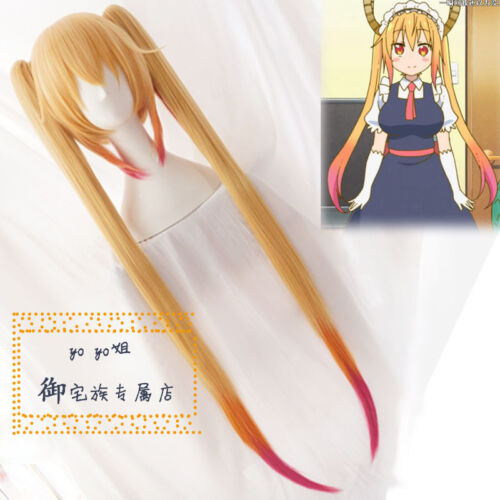 2 Clip on Ponytail Miss Kobayashi/'s Dragon Maid Dragons Girl Tohru Cosplay Wig