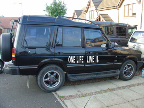 Decal LIVE IT 4X4 Land Rover, Stickers Huge Camel Trophy ONE LIFE