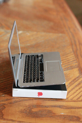 Laptop Notebook Computer Doll SD MSD BJD 1//3 1//4 scale Silver toy prop macbook