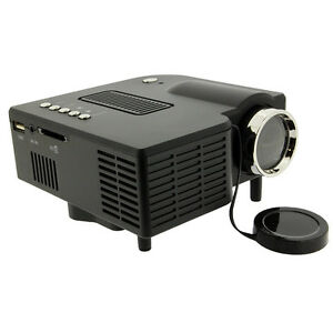 Mini portable hd led projector home cinema theater pc for Top rated mini projectors