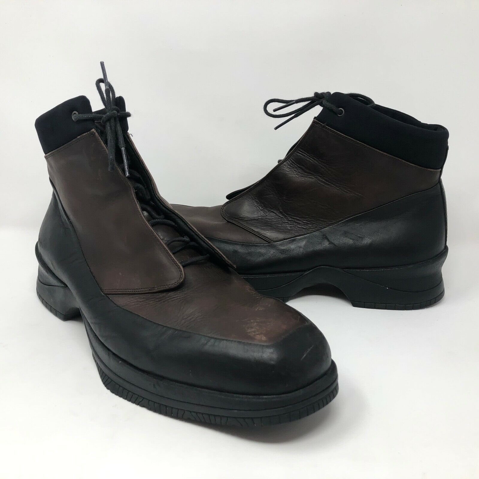 VTG Air Jordan Mens Stivale Brown High Top shoes Boots Sz 10  Made Two Tone