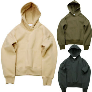 Trendy Men Fear of God FOG Black/Olive/Tan Thicken Pullover Hoodie ...