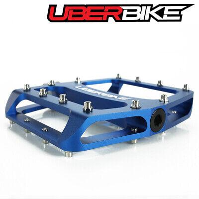Blue Uberbike Flatout MTB Platform Pedal