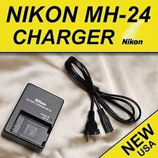Genuine MH-24 Nikon Charger EN-EL14 & EN-EL14a Battery D3100 D3200 D3300 D5200