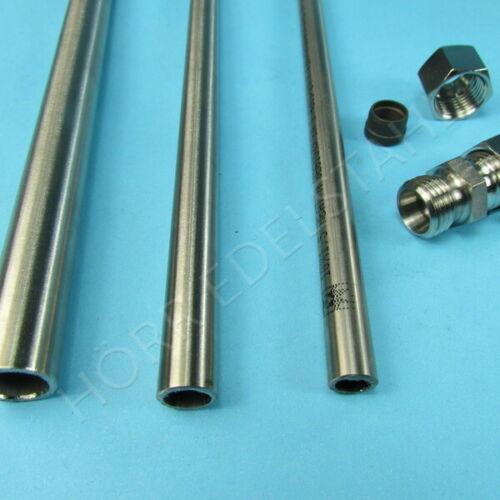 2,5 M hydraulikrohr incliner direction DIN 17458 Acier Inoxydable Tube Ø 5-12 mm 2