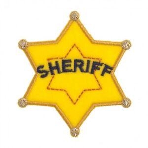 CFM2... Craft Factory Hierro O Coser En Tela Motivo Aplique Insignia de Sheriff-cada uno