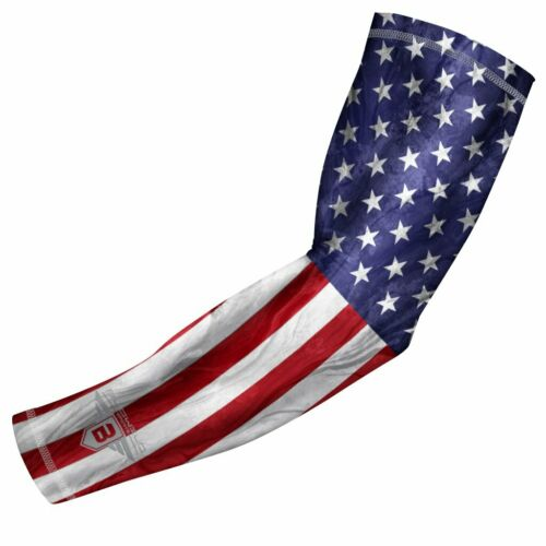 Brand New USA Flag Compression Arm Sleeve for Sport Youth /& Adult Sizes Unisex
