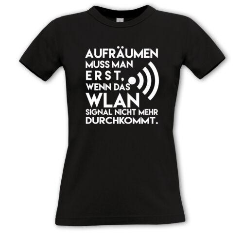 démoniaque shirt-Funshirt Cadeau proverbes wlan Comedy Nettoyage il faut d/'abord,..