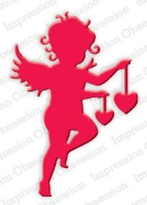 CUPID HEART Die Craft Steel Die Cutting Die by Impression Obsession DIE254-D New