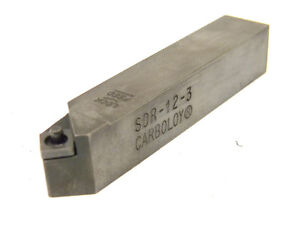 Used-CARBOLOY-3-4-034-Shank-SDR-12-3-TURNING-TOOL-HOLDER-SNMG-322