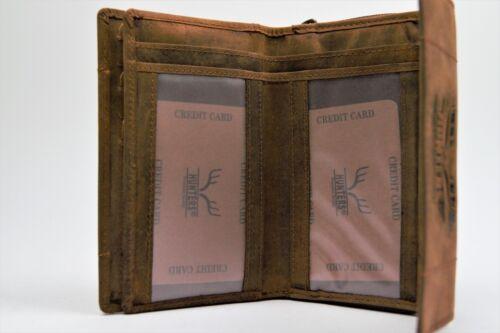 DAMEN Geldbörse Geldbeutel Portemonnai echt Leder im Vintage Look
