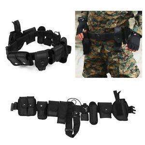 Police Officer Security Guard Law Enforcement Equipment Duty Belt Gear Nylon MX