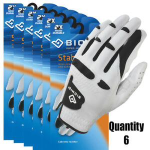 6-x-Bionic-Golf-Gloves-StableGrip-Mens-Left-Hand-White-Leather-26-45-ea
