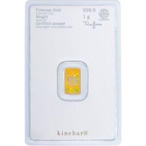 1 G Heraeus Swiss Hologramme Kinebar Solide Fine 999.9 Gold Bullion Bar Scellé-afficher Le Titre D'origine Bq0vugb6-08000512-234440313