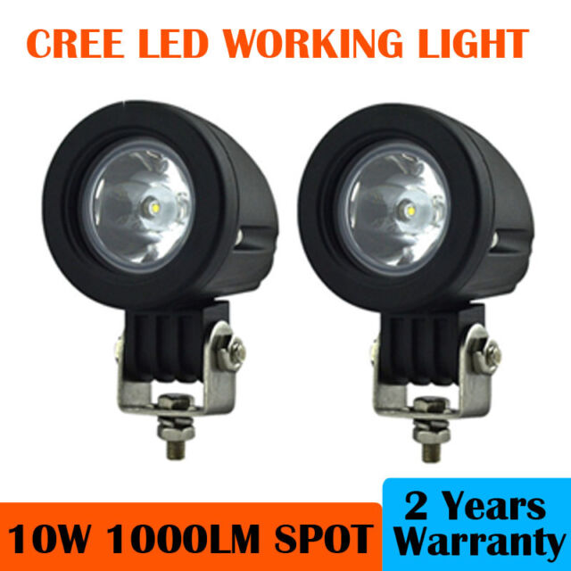 2x 10W CREE LED Work Light Spot Beam for Mortor Cycle Boat Truck ATV SUV CAR